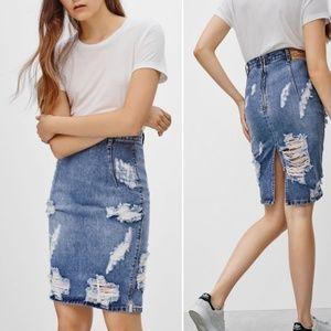 54a84bc05a •ARITZIA• ONE TEASPOON Freelove Ford Skirt Size 26